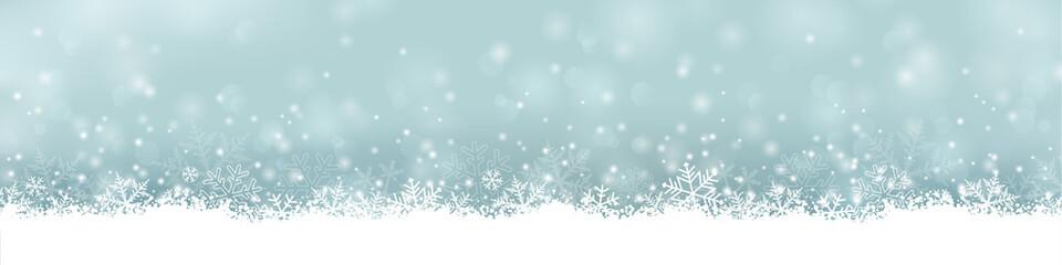 extra breites Banner / Bordüre für Weihnachten mit Schneeflocken