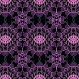 декоративный графический узор ажурный розовый на черном фоне
