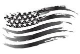 USA Flag Vector grayscale Icon - 127145331