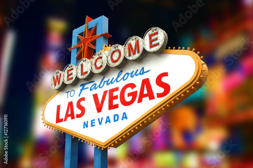 Poster Welcome to fabulous Las Vegas sign