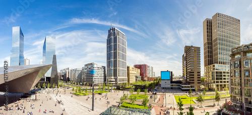 Foto op Plexiglas Rotterdam Skyline der Stadt Rotterdam, Niederlande