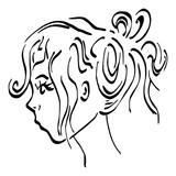 Portret zijkant vrouw