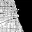 Chicago, USA, Monochrome Map Artprint