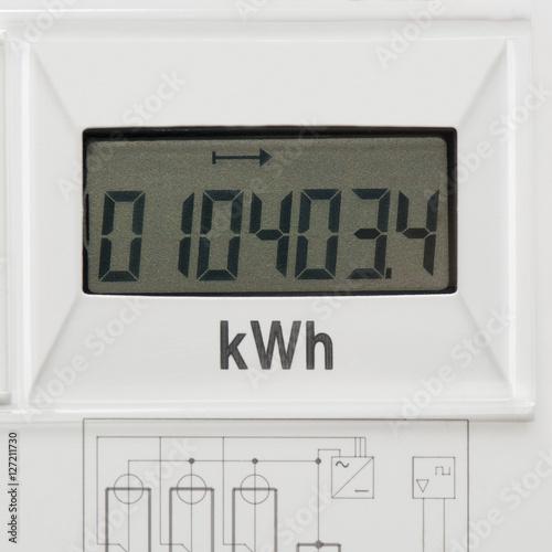 Stromzähler - Digital - Energieverbrauch  Poster