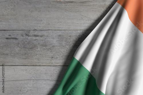 Poster Ireland flag waving
