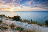 Sunset over Lake Michigan at Empire Bluff - Sleeping Bear Dunes - 127213710