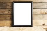 Standing black frame mockup - 127226182