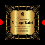Luxury ornamental gold label