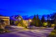 Leinwandbild Motiv Fantastic glow luxury neighborhood at night