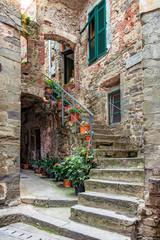 Fototapeta Alley w Włoski starego miasta Liguria Włochy