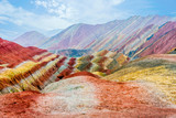 Rainbow mountains, Zhangye Danxia geopark, China - 127246135