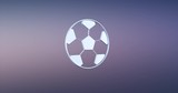 Animated Football Silver 3d Icon Loop Modules for edit with alpha matte