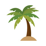 tree palm isolated icon vector illustration design - 127253368
