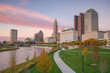 View of downtown Columbus Ohio Skyline
