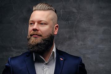 Studio portrait of bearded male