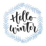 Hello winter hand written inscription - 127272729