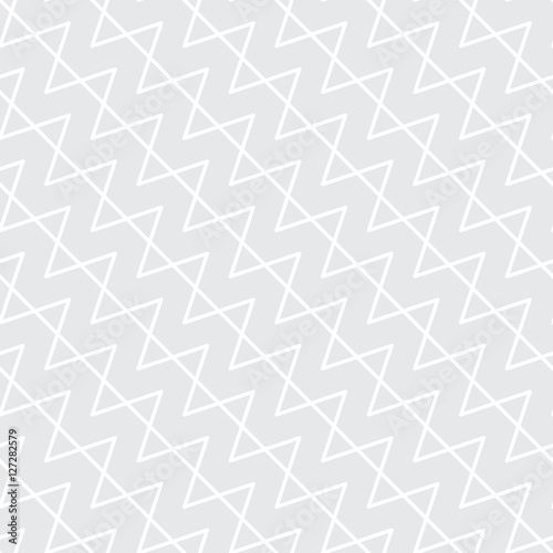Abstract geometric black and white graphic design print pattern - 127282579