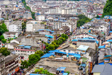 Buildings in Yangshuo city, Guilin, China