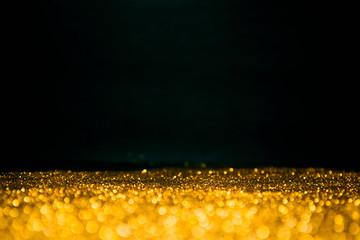 Gold glitter glow