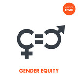 gender equity icon on white, vector symbol - 127322969