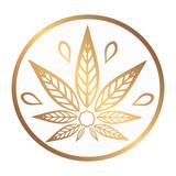 Cannabis gold logo. ...