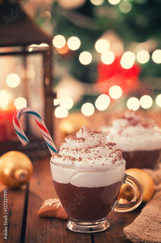 Foto op Canvas Chocolade Christmas Hot Chocolate