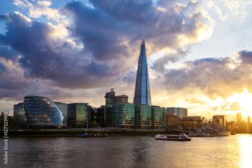 Foto op Plexiglas London Shard at sunset