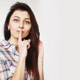 Shut up please ! - Finger on lips