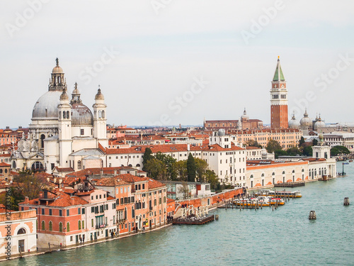 aerial views of venice skyline, italy Poster