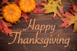 Thanksgiving Celebration - Autumn leaves and pumpkins