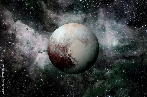 Poster Solar System - planet Pluto.