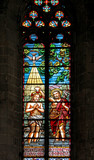 Battesimo di Gesù, vetrata; Basilica di Santa Maria del Mar, Barcellona
