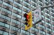 Traffic light Toronto downtown. Red light.