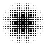 Halftone circles, halftone dots pattern. Monochrome half-tone - 127355916