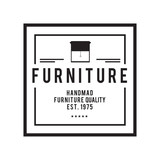 Furniture Emblem vintage vector set, Hipster and retro style