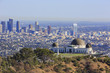 Los Angeles afternoon cityscape with Griffith Observatory