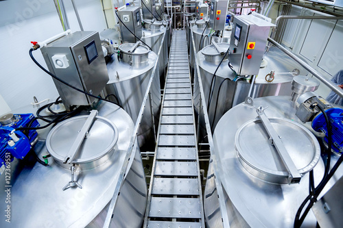 Equipment at dairy plant