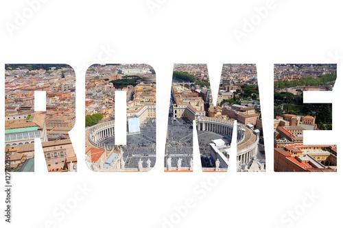 Papiers peints Rome Rome - postcard word