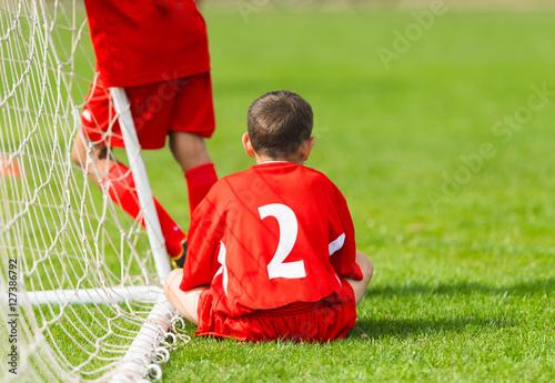 Poster Kids soccer waiting