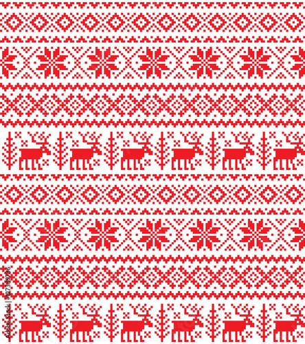 Cotton fabric New Year's Christmas pattern pixel
