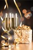 Champagne glasses holiday. - Fine Art prints