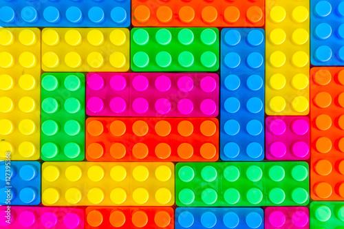 Plastic blocks background © Adul10