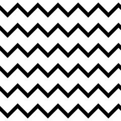 Zigzag chevron seamless pattern background in black and white. Retro vintage vector design.