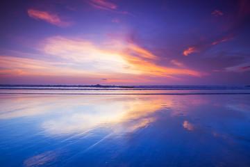Fototapet zachód słońca na wyspie Balii