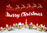 Merry Christmas. Xmas greeting card vector