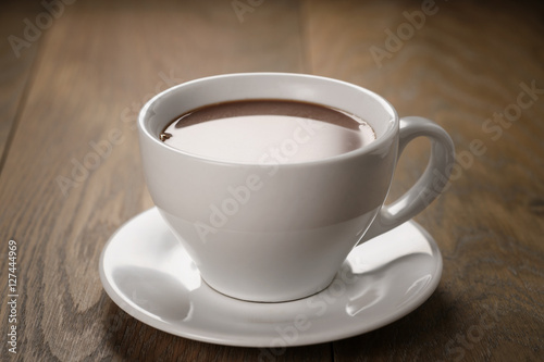 hot chocolate in cappuccino cup