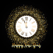 Detaily fotografie Happy New Year background with gold glitter