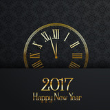 Happy New Year clock design