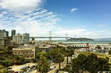 san francisco panorama with bay bridge - 127449962