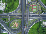 Road beautiful Aerial View of Busy Intersection at Night , Ratch